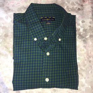 Green checkered dress shirt